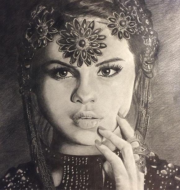 Selena Gomez Drawing by Kirstie0109 on DeviantArt