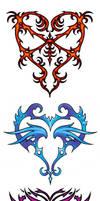 Three Hearts - Tribal