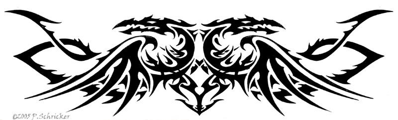 Dragon band by nachtwulf on deviantart for Tribal tattoo shops near me