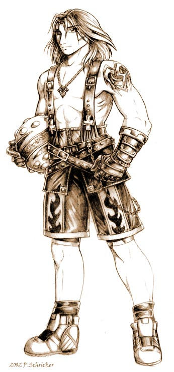 FFX-2 Tidus -concept sketch- by nachtwulf