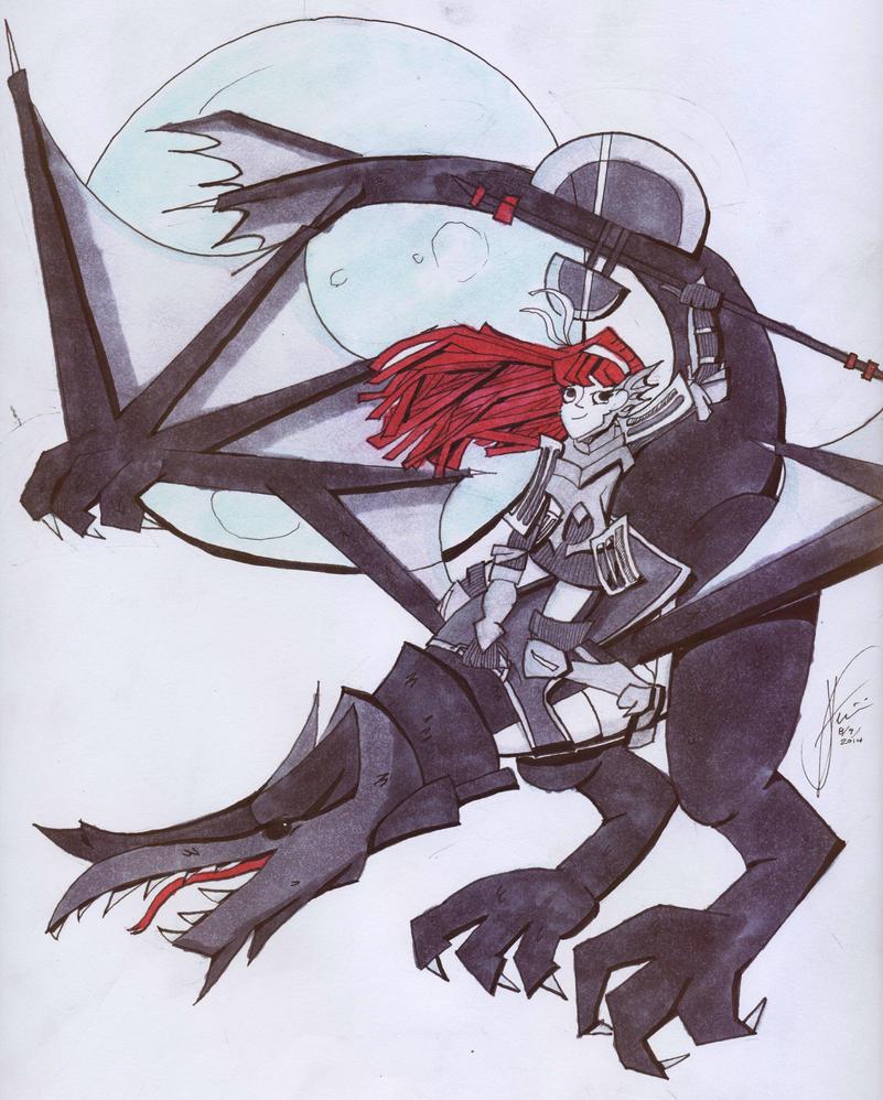 A dragon lady named Cherche by LesGloryDays30