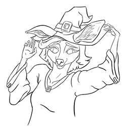 Cute Witch Doe - Halloween Drawing
