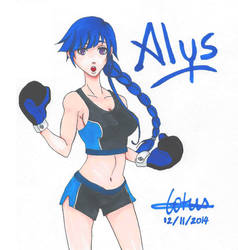 Alys Boxing by UsagiNoAka