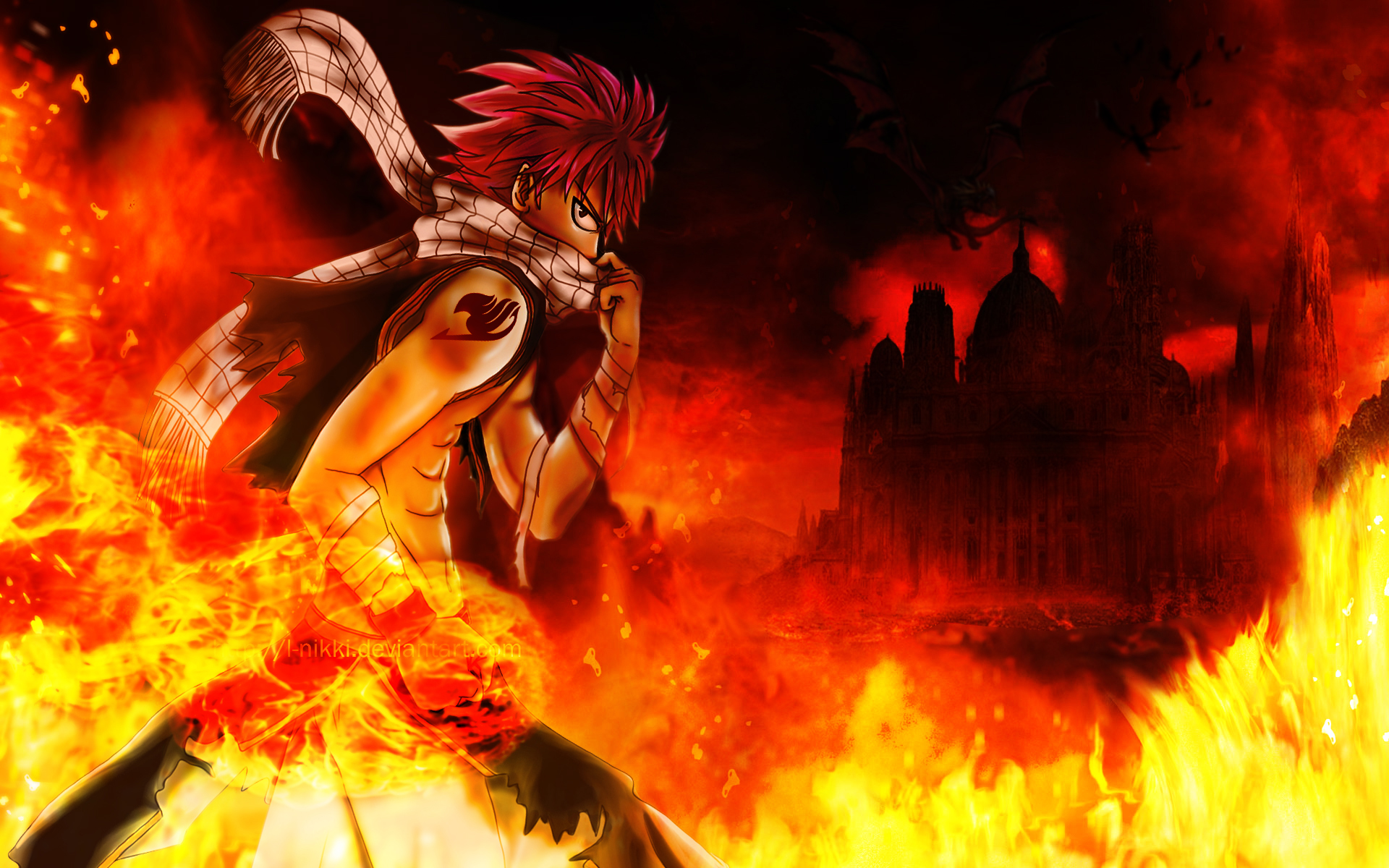 Natsu Dragneel The Fire Dragon Slayer By L Nikki On Deviantart