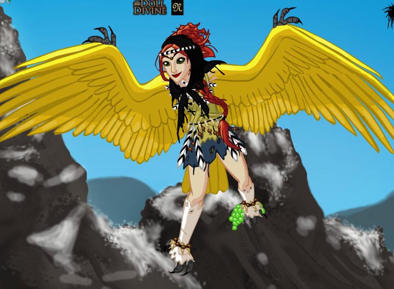 Scarlett In Harpy Form by VALERITABONITA