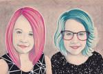 Popart Portrait of my Girls