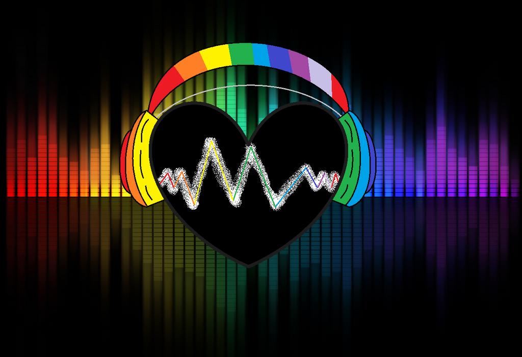 Rainbow Music Heart By BlackStar295 On DeviantArt