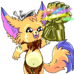 Gnar and the InfiniMeme Gauntlet by Jblask