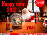 Coca'Cola Happy new 2012 year Wallpaper remake
