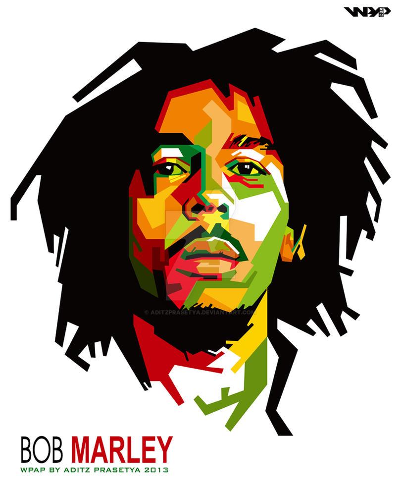 bob marley in wpap by aditzprasetya on deviantart rh deviantart com Bob Marley Silhouette Stencil bob marley clip art free