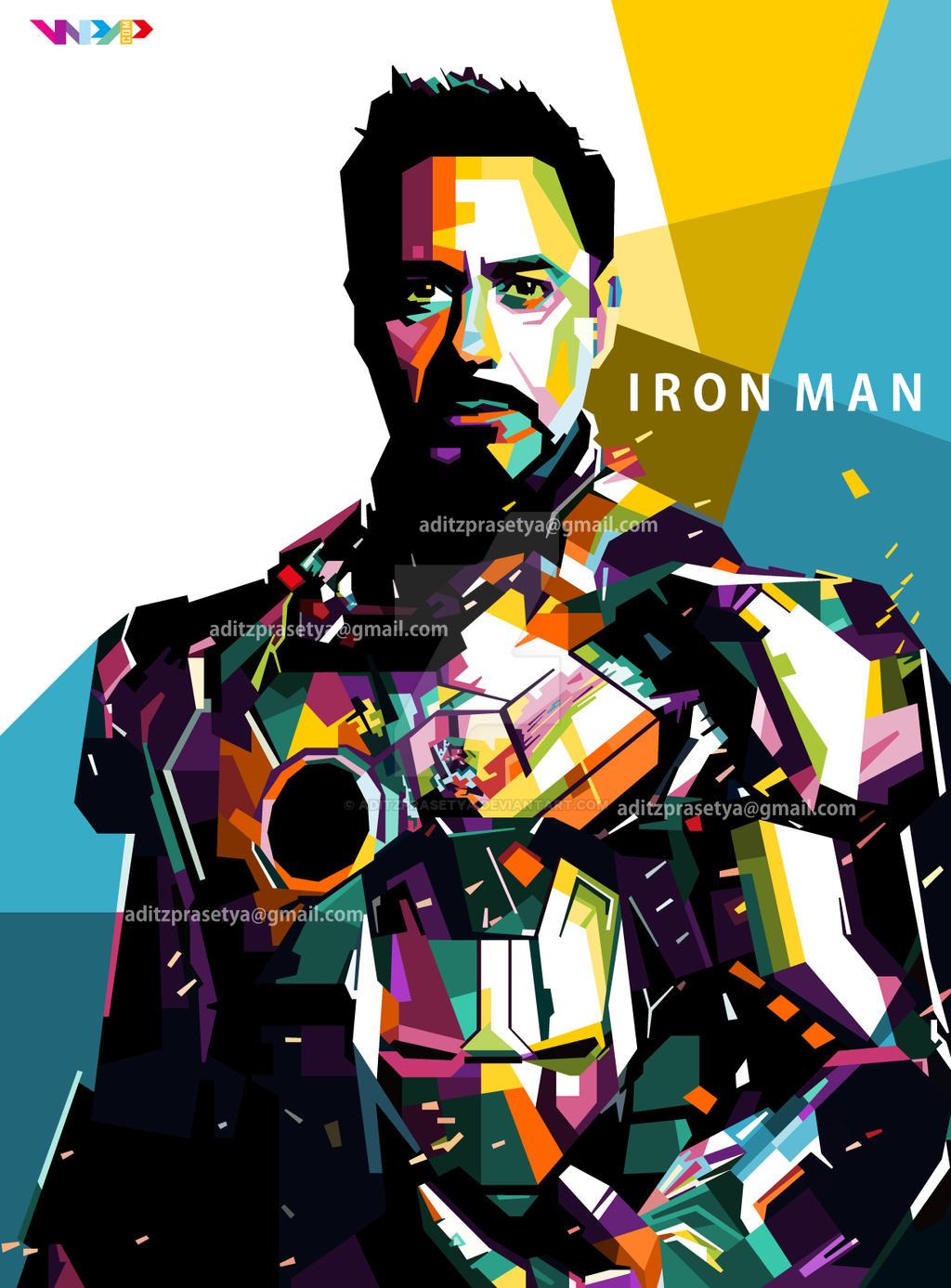 Iron Man Pop Art By Aditzprasetya On Deviantart