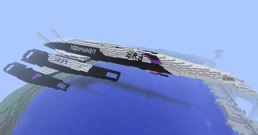 Minecraft Mass Effect Normandy by TheApiem