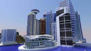 Minecraft City Render