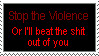 ::Stop the Violence Stamp:: by FallenWarriorRoxas