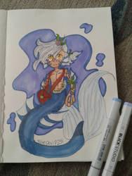 merman drawing by bluesky17251
