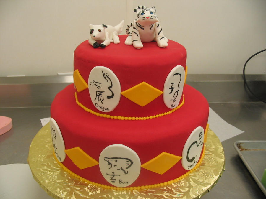 chinese new year wedding cake by miirikixen - Chinese New Year Cake
