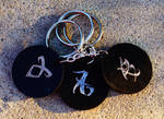 City of Bones Mortal Instruments Leather Keychain