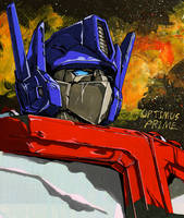 Optimus Prime--etude by marble-v
