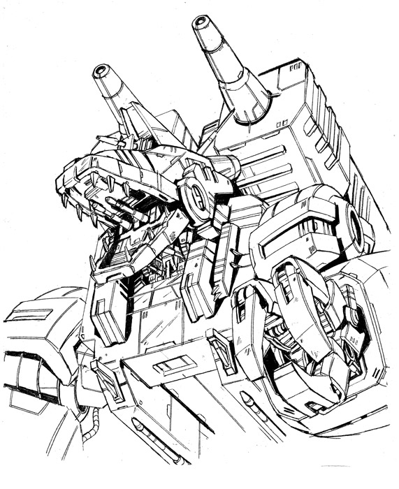 Trypticon drawing by marble-v