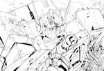 G1 Optimus Prime and Megatron_ink