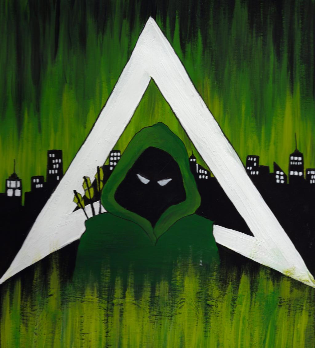 Green Arrow Minimalist Painting by LindseyTebaldi