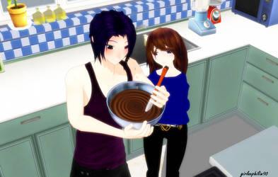 mmd D.N.Angel x oc: Learn To Bake by girlnephilim90