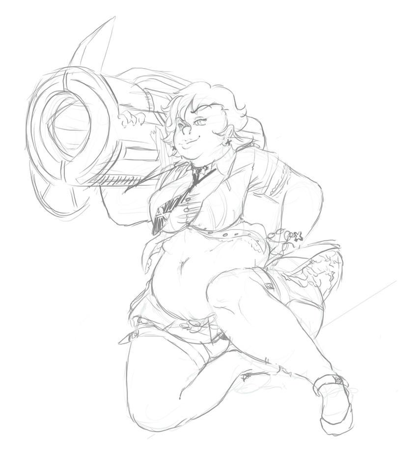 Roxanne Sketch by kittygurl521