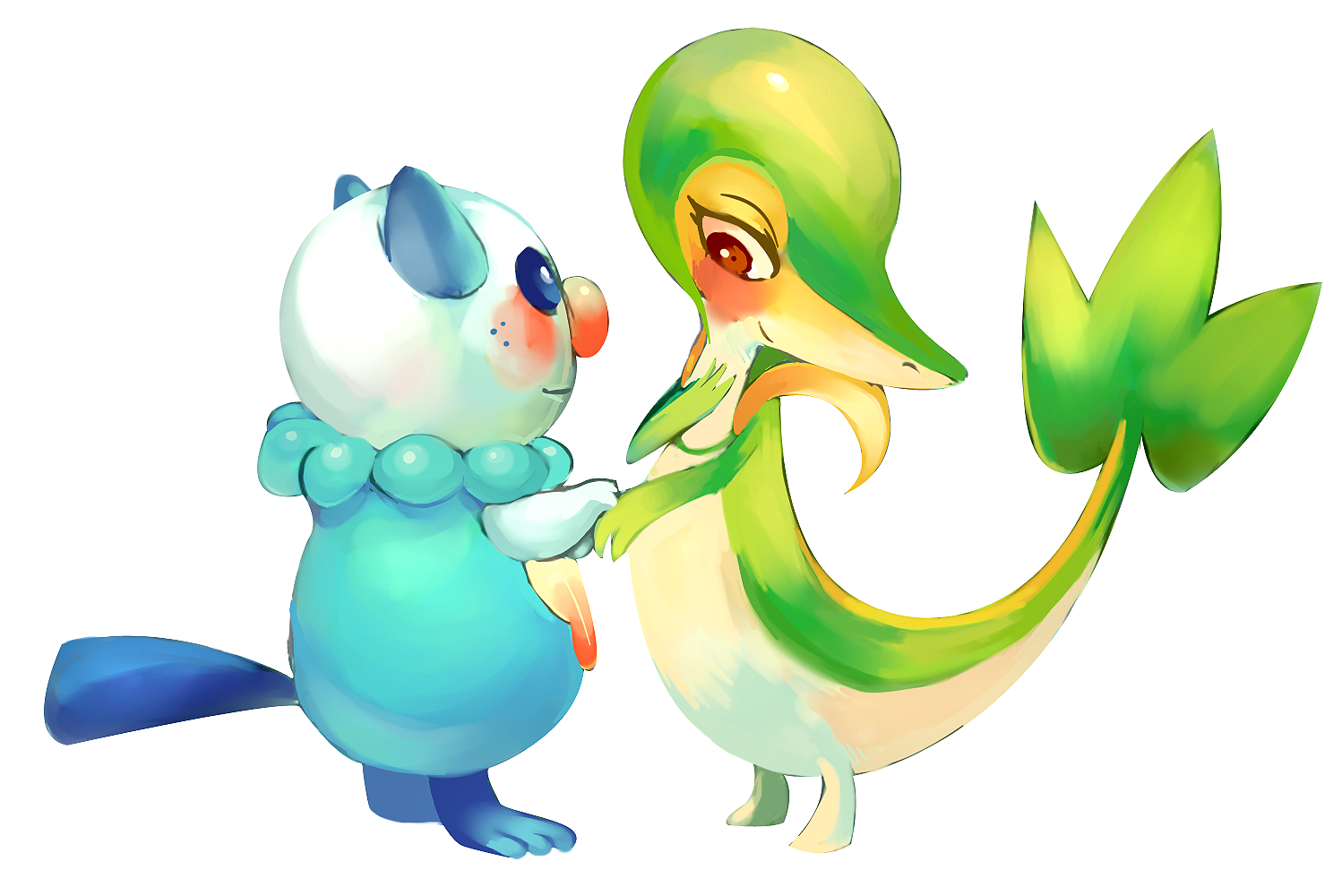 Snivy and servine love story
