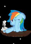 Rainbow Dash tired
