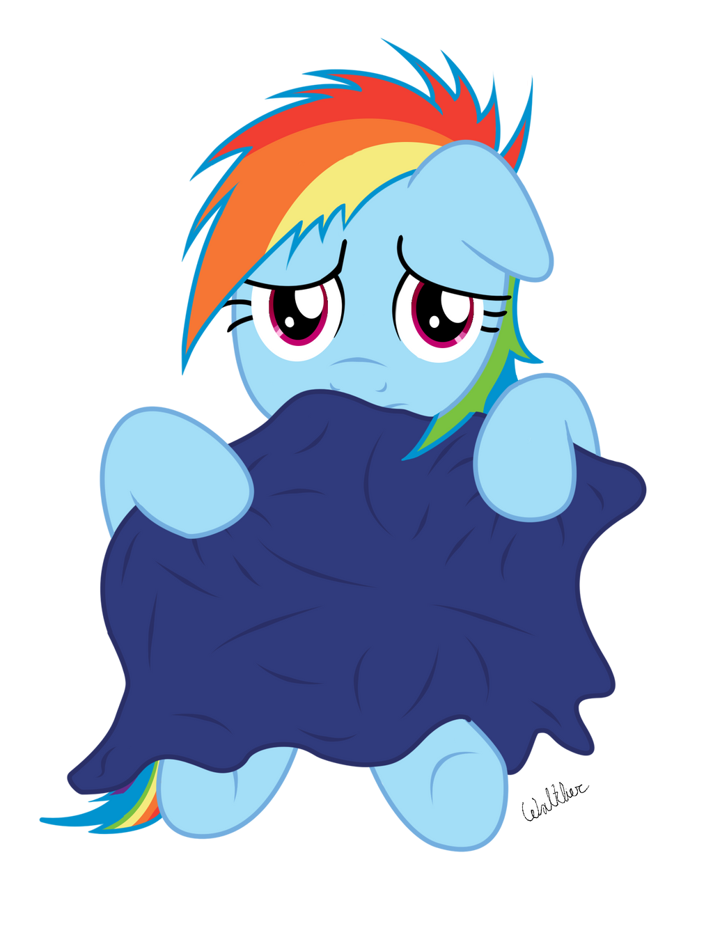 Filly Rainbow Dash: W-Who are you? by ColonelWalther on ...