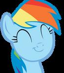 Rainbow Dash - Happy face