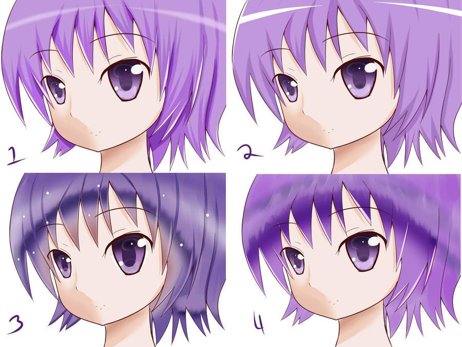 Hair Coloring Style Practice 03 By Hanaji101 On Deviantart