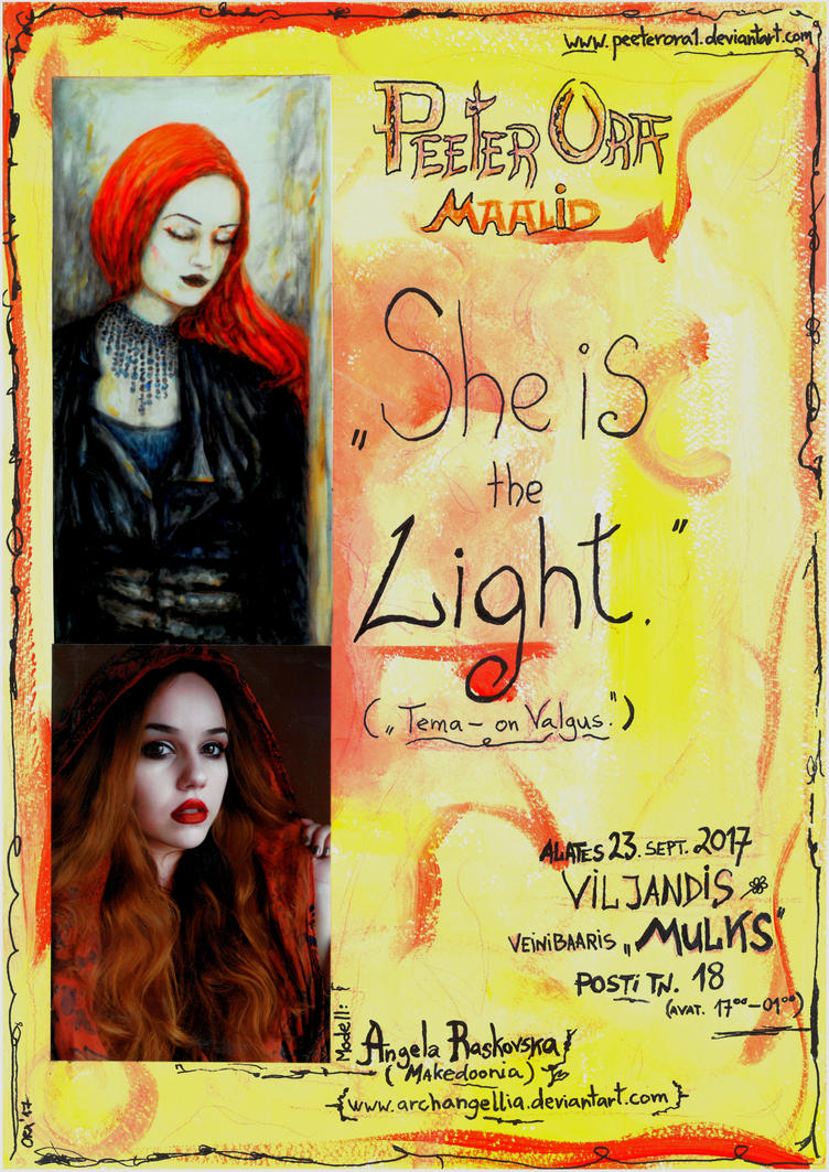 The poster of my current painting exhibition. by PeeterOra1