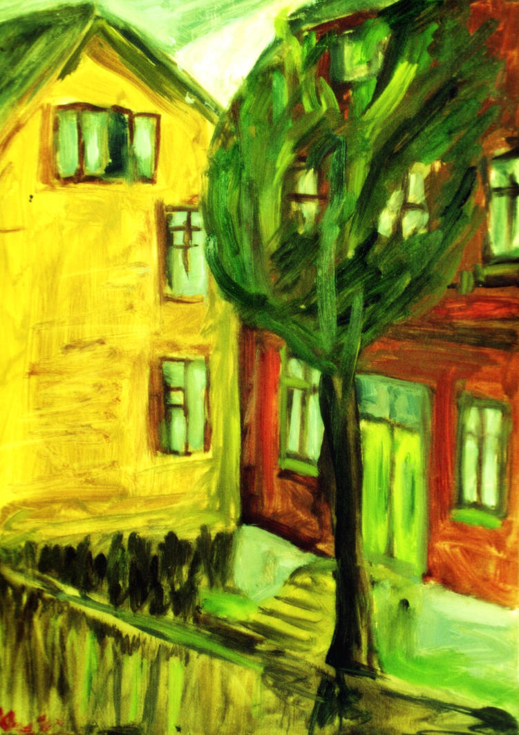 Yellow House 2003 by PeeterOra1