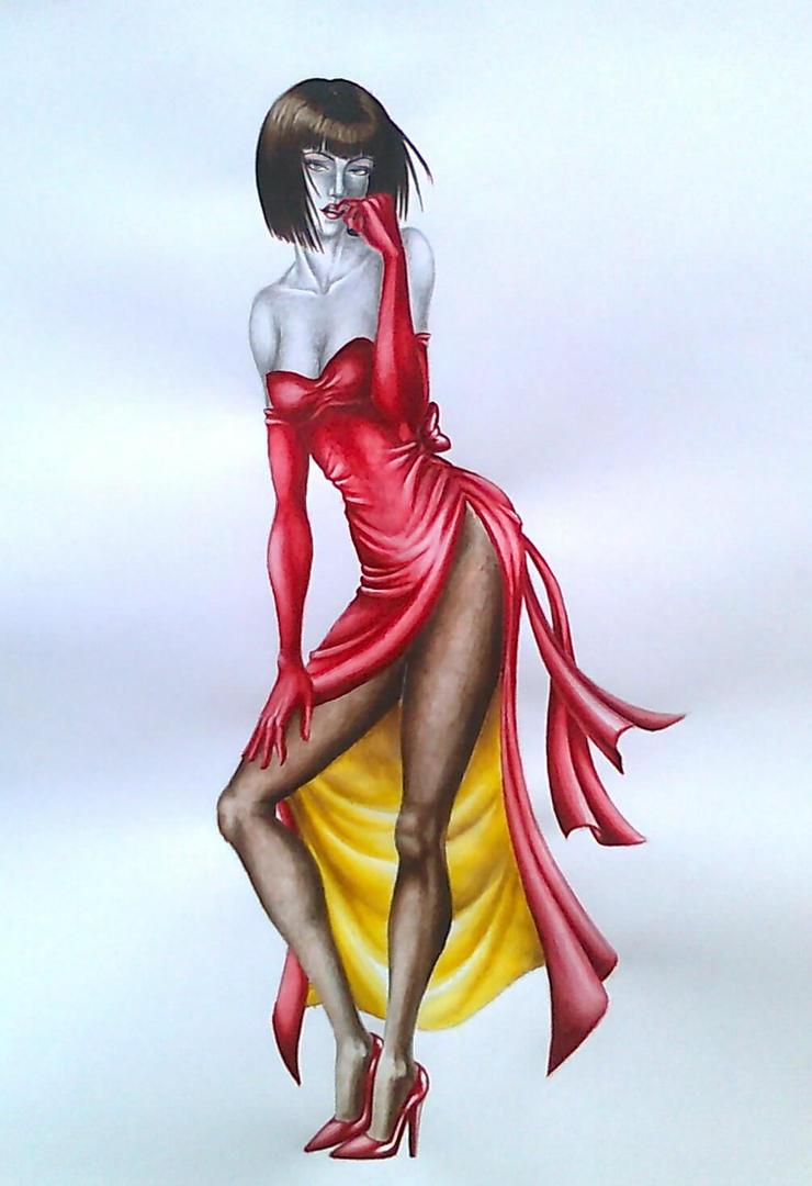 Tekken 1 Tribute - Anna Williams (No background) by Trix92