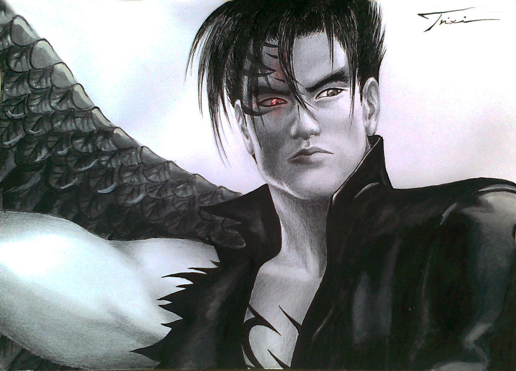 Devil Jin Kazama - DONE!! by Trix92