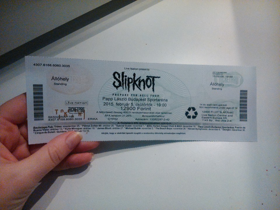 My Slipknot ticket - FINALLY!!! by Trix92