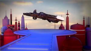 Millenium Falcon escapes 2