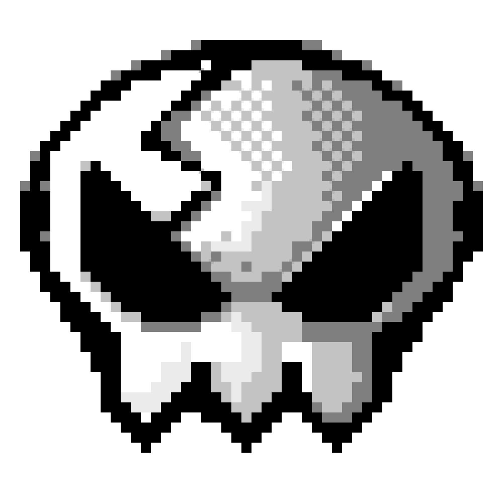 Pixel Yoko Skull By Snarky Sharky Art On Deviantart