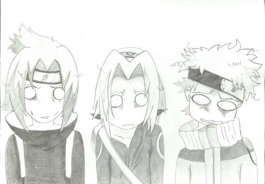 Sasuke x Sakura x Naruto by LilmissVioletrose on DeviantArt