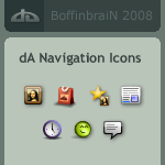 dA Navigation Icons by BoffinbraiN