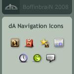 dA Navigation Icons by BoffinbraiN