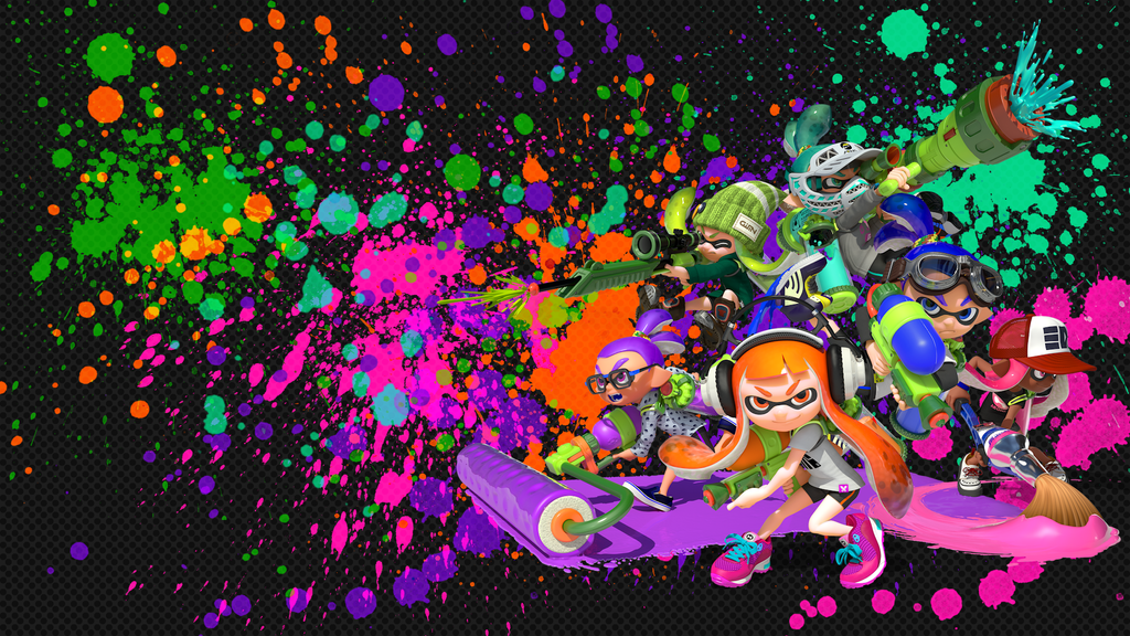 Squid Squad Wallpaper Splatoon 588385171 on Plant Coloring Pages