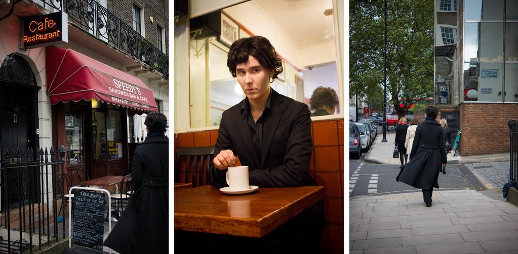 SHERLOCK: Having tea at Speedy's. Mycroft's late. by Shigeako