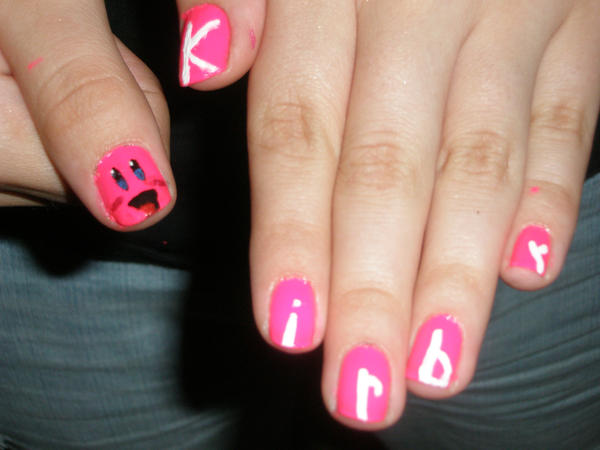 Kirby Nails by Happylod3