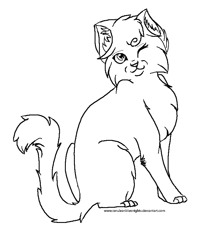 Line Art Of Cat : Free cat line art by annalei on deviantart