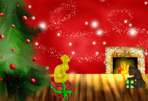 Christmas Collab. Background by Annalei