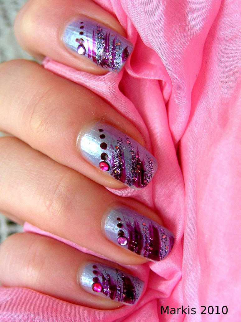 nail art, pink II. by PrinceznaMarkis on DeviantArt