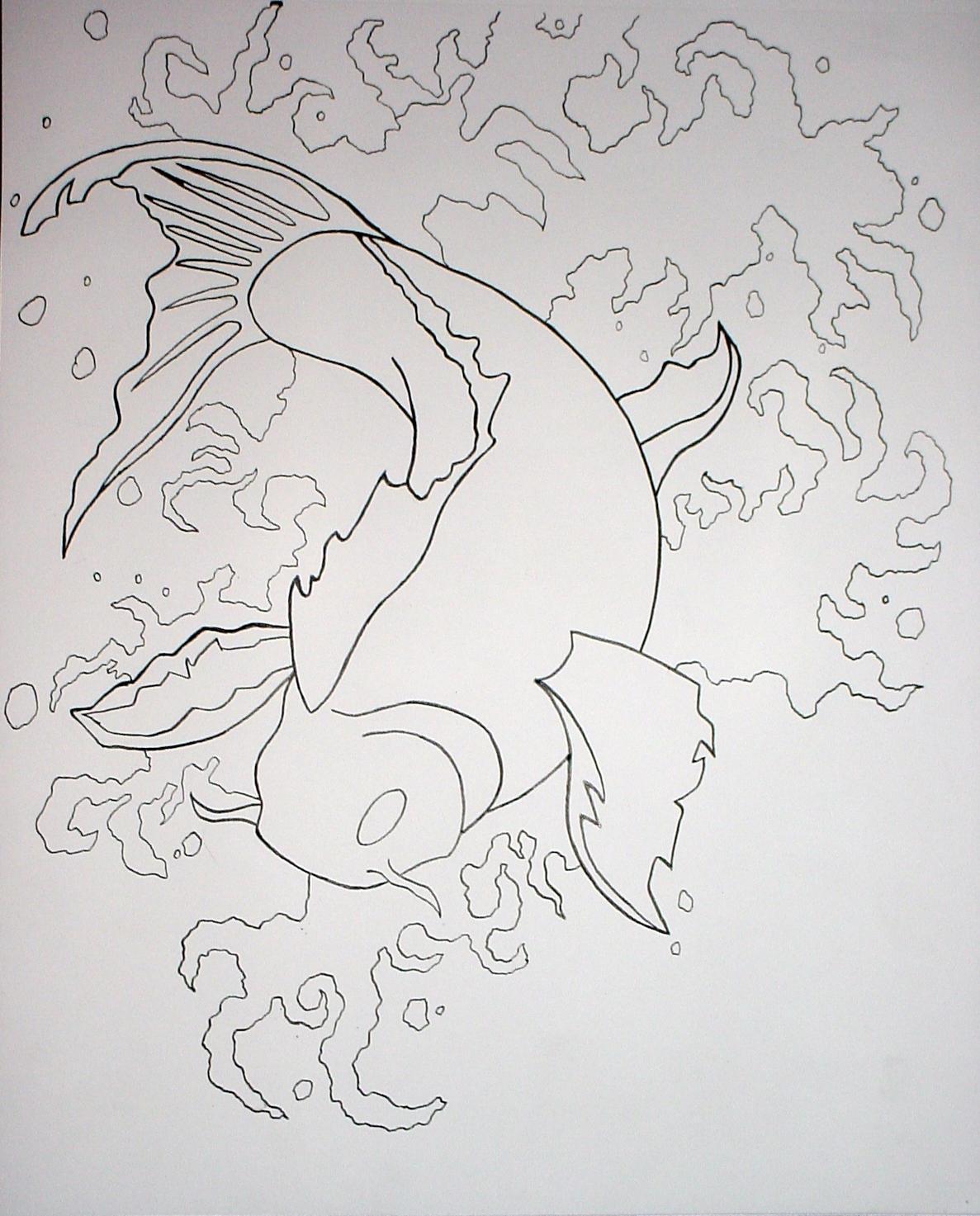 Outline of koi fish by xshaixhuludx on deviantart for Koi fish outline