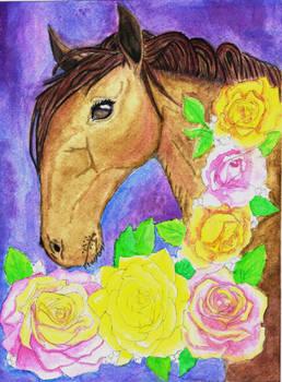 Floral Fantasy Horse